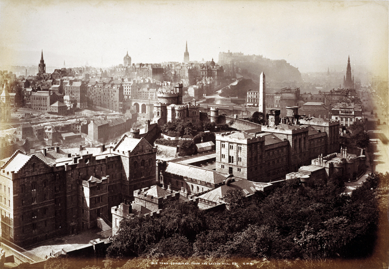 Old Town Edinburgh from Calton Hill, G.W.Wilson 1870s